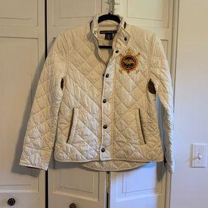 Ralph Lauren Sport Cream Quilted Puffer Jacket
